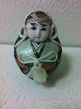 VINTAGE JAPANESE EGG ROLY POLY DOLL/PIN CUSHION BRAND NEW
