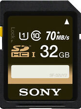 Sony 32 GB SDHC SD Memory Card For Cameras SF-32UY2 32GB Camera Card