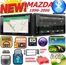 96-06 MAZDA DOUBLE DIN DVD NAVIGATION BLUETOOTH BT CAR STEREO RADIO