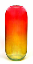 Handmade Glass Vase Red and Yellow- Color Of The Rainbow   H-50 cm