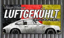 Custom Porsche 911 Vinyl Garage Banner Luftgekuhlt Air Cooled Speed Shop print