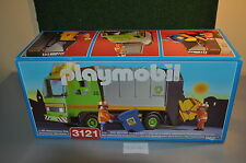 PLM44 playmobil MISB mint in sealed box 3121 garbage truck