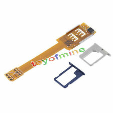 Dual Sim Card Adapter Single Standby Flex Cable Ribbon For iPhone 5S 5C 6 ACTPL