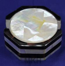 Handmade 6 pcs Beautiful Mother of Pearl Coasters Set Marble Craft Work Mosaic