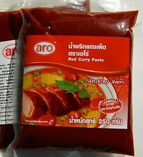 RED CURRY PASTE AUTHENTIC THAI QUALITY LARGE VALUE 250g PACK - W / WIDE POSTAGE