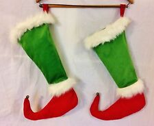 2 Dr Seuss How the Grinch Stole Christmas Stockings from 2000 Pointy Elf Toes