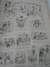 Caricature 1888  A Neuilly ! Messeigneurs pèle mèle de dessins