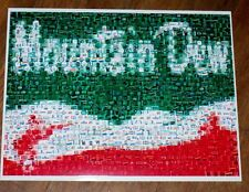 Amazing Vintage Mt. Mountain Dew sign PEPSI Montage
