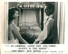 Happy is the Bride original lobby card Janette Scott Ian Carmichael overook bed