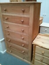 OLD MILL PINE FURNITURE EDWARDIAN RANGE 7 DRAWER CHEST OLDE ANTIQUE WAX