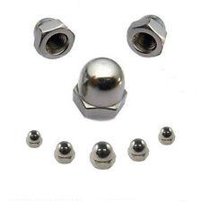 Hutmuttern 8 mm DIN 1587 M8 Edelstahl A2 10 Stk. ** Profi-Qualität **