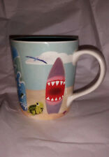 STARBUCKS 2010 COFFEE CUP MUG SURFBOARDS HAWAII SHARK TURTLE FISH 10 OZ.