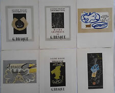 GEORGES BRAQUE,  MOURLOT LITHOGRAPHS, GALERIE MAEGHT, PLATES 1-6 Lmtd ED.