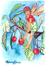 ACEO Limited Edition- The Cherry tree fairy inspired by CM Barker