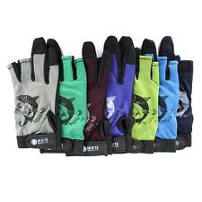 3 Half Fingers Skidproof Resistant Gloves Anti-Slip Pack Fishing Rod Gloves