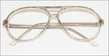 """BRAD"" Classic Large Man Reading Glasses Retro Academic Light Gray Frame +3.50"