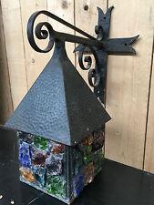 Lanterne murale en fer forgé / Lanterne d'applique / Lanterne d'extérieur -