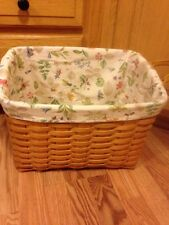 Longaberger 2001 Newspaper Basket with New Liner -EUC