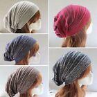 Unisex Women Men Warm Winter Baggy Beanie Knit Crochet Oversized Hat Slouch Cap