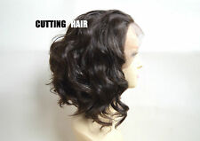 SKIN Top Deep Invisible Chestnut Brown Short Curly Lace Front Wig GLUELESS L27