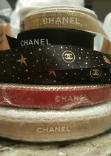 CHANEL AMAZING 180 inches 5 yards RIBBON Authentic RED GOLD BLACK WHITE wow LOT