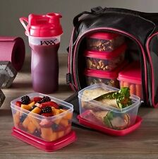 Fit & Fresh Jaxx FitPak Meal Prep Bag with Leakproof Portion Control Containers