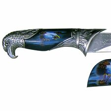 Deko Messer Brieföffner mit Scheide Weißkopfseeadler blau ziselierte Klinge