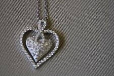 """Beautiful Heart Shaped Necklace With Figure """"8"""" Bale."""