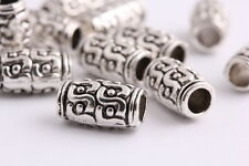 20 pieces Tibetan silver Spacer tube beads Bracelets necklaces Charms 12mm