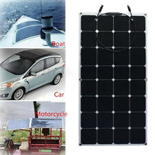 SUNPOWER 100W 18V Mono Flexible Boat Car Motor Homes Solar Panel +10A Controller