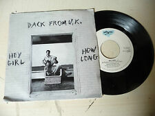 "BACK FROM UK""HEY GIRL-disco 45 giri POLYXENA It 1985"" PERFETTO"