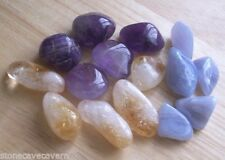 Wholesale Tumblestones - AMETHYST, CITRINE, BLUE LACE  17mm-20mm - 15 Crystals