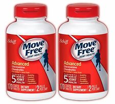2 BOT Schiff Move Free Advanced Triple Strength Glucosamine Chondroitin 170 Tabs