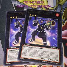 OCCASION Carte Yu Gi Oh BOXEUR INDOMPTABLE COMMISSAIRE TRICHE SHSP-FR049 x 2 1èr