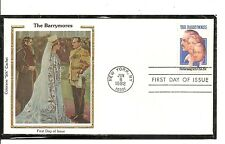 US SC # 2012 The Barrymores FDC. Colorano Silk Cachet.