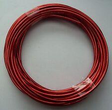 Aludraht, Aluminiumdraht - rot / Stärke 2,00mm / 5m-Ring , Basteldraht