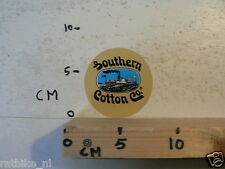 STICKER,DECAL SOUTHERN COTTON CO STOOMSCHIP STEAMSHIP