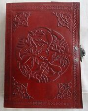 Handmade Leather Journal Celtic Memo Embossed Blank Diary New Vintage Notebook