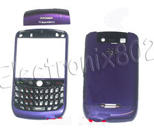 For Blackberry Curve 8900 Fascia Housing Case Keypad Battery Cover Dark Purple