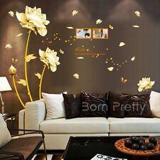 Wandtattoo Blumen Wandaufkleber Wandsticker Dekoration Aufkleber Wanddeko