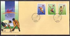 2002 Malaysia Hockey World Cup 3v Stamps FDC (Melaka Cancellation)