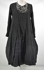 STUNNING GERMAN  CHAMPAGNE LAGENLOOK amazing parachute dress L/XL black