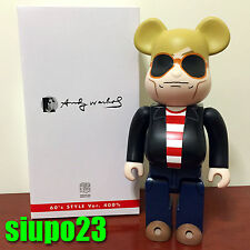 Medicom 400% Bearbrick ~ Andy Warhol Be@rbrick 60's Style Version