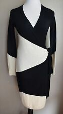 NEW $595.00 Diane von Furstenberg DVF Asha Cashmere Sweater Wrap Dress 0 2 XS  P
