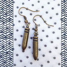 Orecchini Proiettile Bullet Earrings War Vintage Hipster Indie Punk Metal Rock