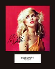 DEBBIE HARRY (Blondie) #1 10x8 SIGNED Mounted Photo Print - FREE DELIVERY
