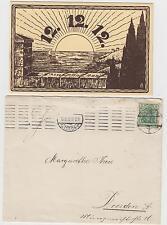 Dresden 12.12.12. ! original Briefkuvert mit beschriebener Karte am 12.12.12. !