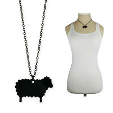 "BLACK SHEEP OF THE FAMILY NECKLACE 16"" Fun Statement Pendant Jewelry NEW Animal"