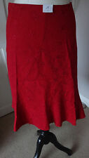 Gorgeous Red New Look Women's Skirt Flared. Size 8 -
