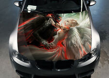 Angel and Demon Car Hood Wrap Full Color Vinyl Sticker Decal Fit Any Car